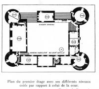 Motte-Josserand Plan 1er étage