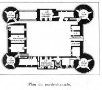 Motte-Josserand Plan rez de chaussée