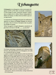 Panneau d'information Echauguette