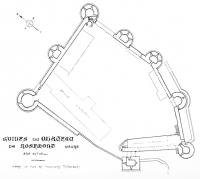 Plan du château, par le Baron de Terline